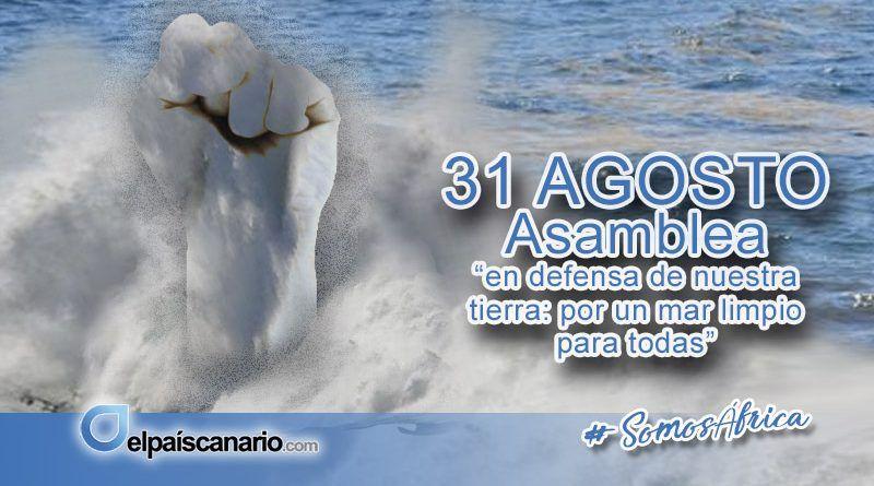 """31 AGOSTO. Asamblea """"en defensa de nuestra tierra: por un mar limpio para todas"""""""