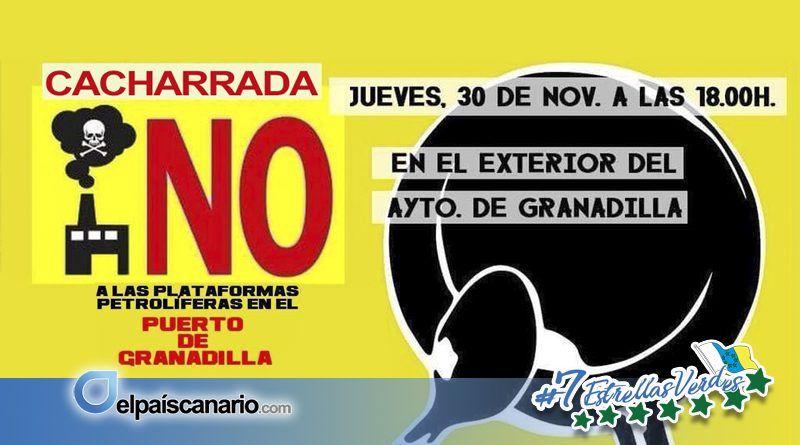 30 NOVIEMBRE. Convocada concentración en el exterior del Ayuntamiento de Granadilla contra las plataformas petrolíferas