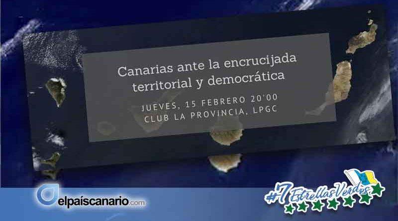 """La Fundación Canaria Tamaimos organiza el acto""""Canarias ante la encrucijada territorial y democrática"""""""