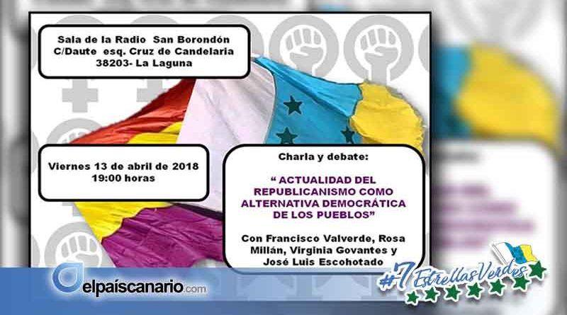 """13 ABRIL. Charla-debate: """"Actualidad del republicanismo como alternativa democrática de los pueblos"""""""