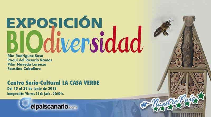 """15 JUNIO. Se inaugura en LA CASA VERDE de Firgas la Exposición """"BIOdiversidad"""""""