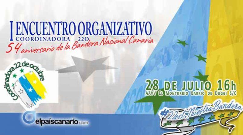 El sábado 28 tendrá lugar el primer encuentro para organizar el 54 aniversario de la Bandera Nacional Canaria