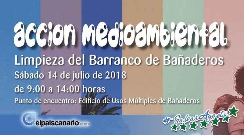 14 JULIO. Se llevará a cabo una Acción Medioambiental con la limpieza ciudadana del Barranco de Bañaderos