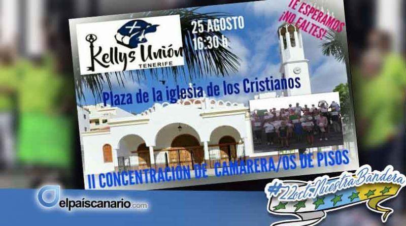 """25 AGOSTO. Las """"kellys"""" se concentrarán en Los Cristianos para reivindicar mejores condiciones laborales"""