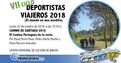 """22 OCTUBRE. Comienza en el Centro Municipal de Cultura de Arucas la séptima edición del Ciclo """"Deportistas Viajeros"""""""