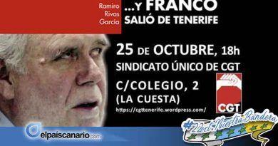 """25 OCTUBRE. Presentación de """"…Y Franco salió de Tenerife"""" en la CGT"""