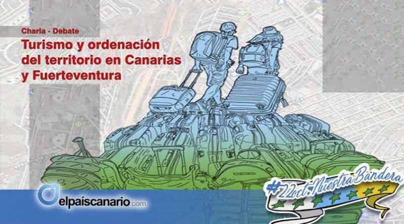 Perfomance de denuncia contra la burbuja turística y urbanística planeada en Fuerteventura y charla-debate sobre turismo y ordenación del territorio