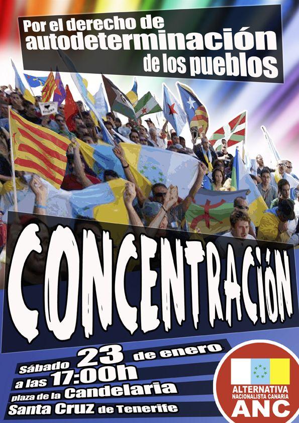 concentración por la autodeterminación de los pueblos