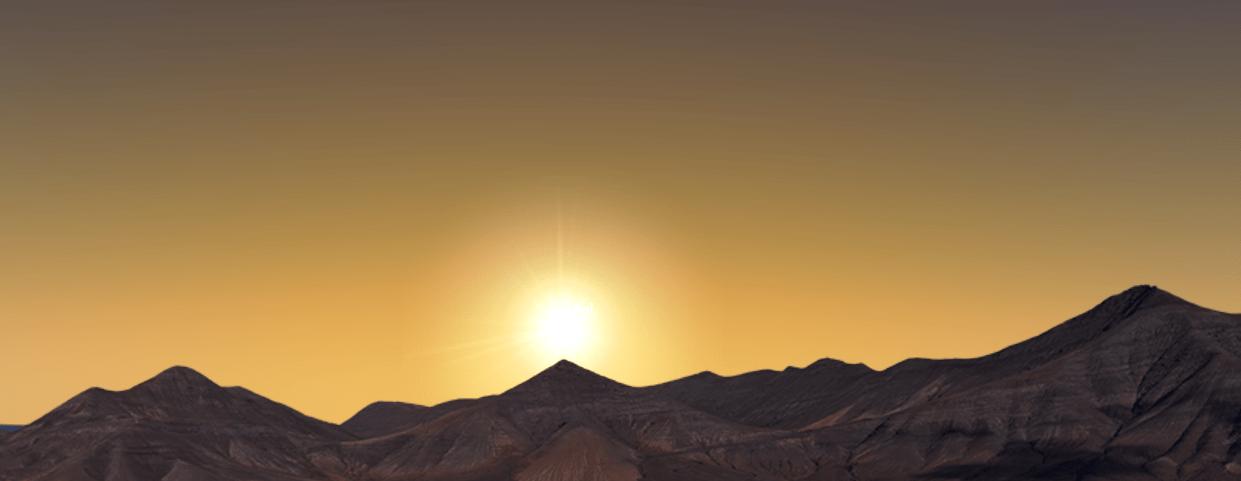 orto solar durante el solsticio de invierno por la  Montaña de Enmedio