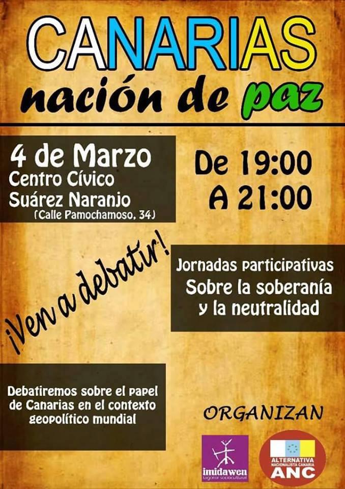 Canarias nación de paz