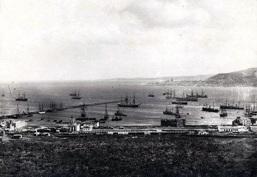 Foto antigua del Puerto de La Luz (FEDAC/Cabildo Insular de Gran Canaria)