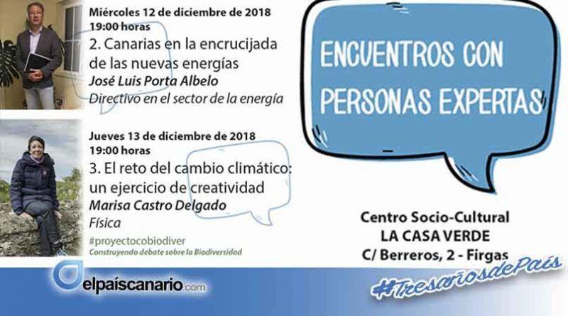 """Firgas aborda en sus """"Encuentros con Personas Expertas"""" las energías limpias en Canarias y el cambio climático"""