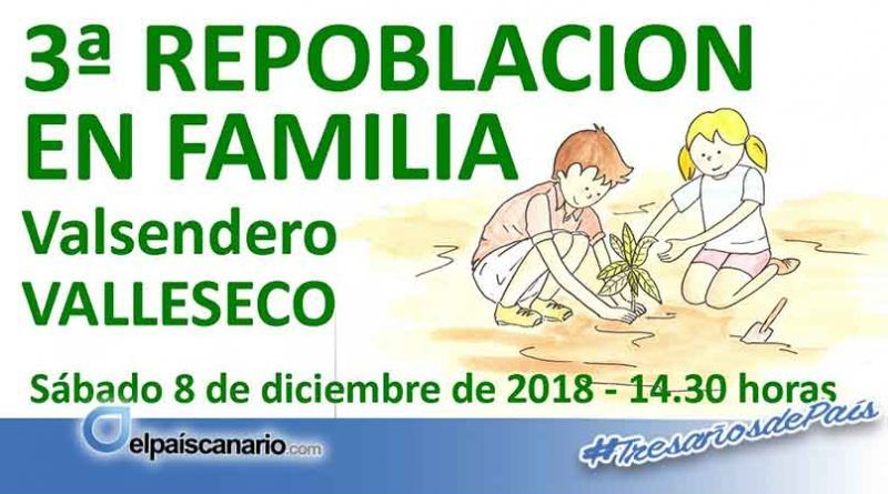 8 DICIEMBRE. Se llevará a cabo una repoblación forestal de laurisilva en Valsendero (Valleseco)