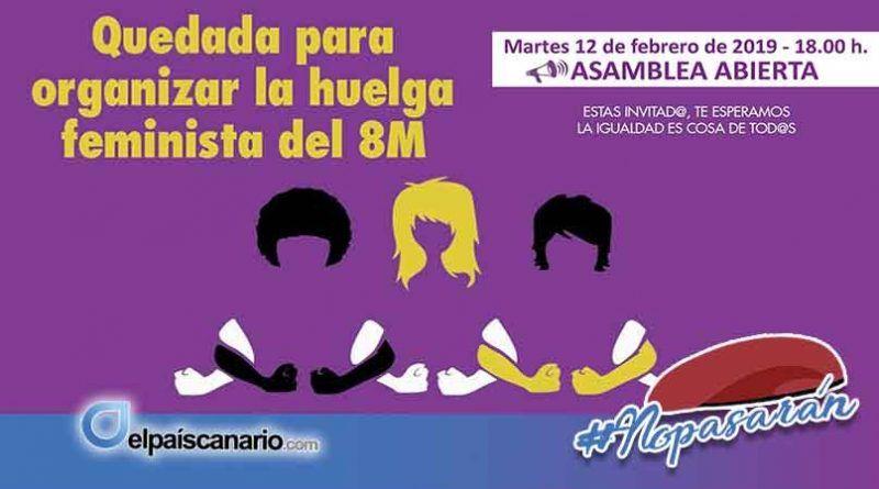 12 FEBRERO. ASAMBLEA ABIERTA del Norte de Gran Canaria en Bañaderos para organizar el 8M hacia la Huelga Feminista