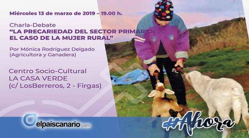 13 Marzo. Mónica Rodríguez nos hablará en LA CASA VERDE de la mujer rural