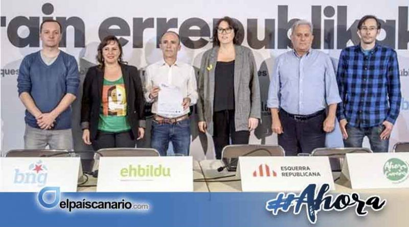 Ahora Repúblicas – Ahora Canarias se presenta los días 3 y 4 de abril en Tenerife y Gran Canaria con la participación de ERC, EH Bildu y BNG