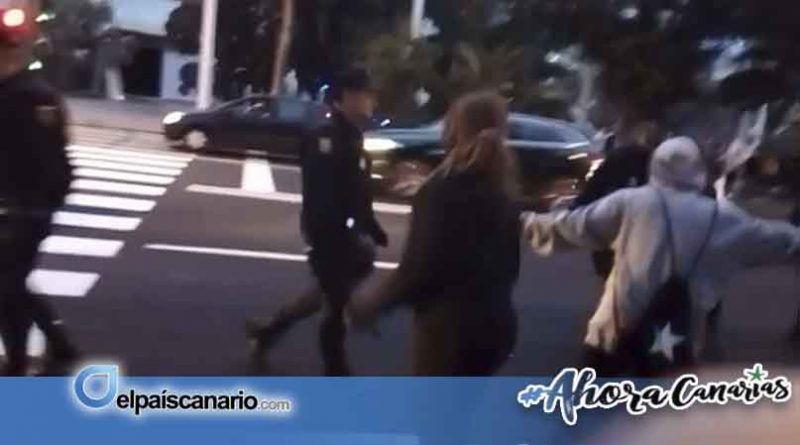 Las protestas contra VOX en Santa Cruz de Tenerife dejan varios heridos y un detenido