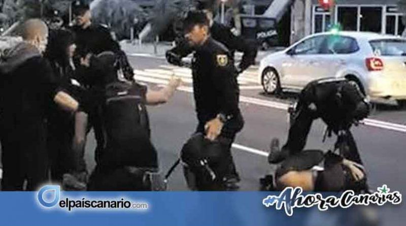 Condenan la actuación policial durante el mitin de Vox en Santa Cruz de Tenerife