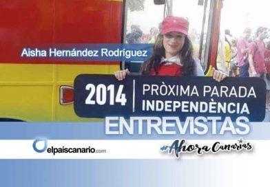 """Aisha Hernández, candidata de AHORA CANARIAS en Las Palmas de Gran Canaria: """"el protagonismo debe residir en la propia juventud organizada para cambiar las cosas"""""""