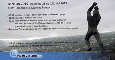 28 JULIO. Homenaje al mencey Bentor en El Lance (Los Realejos)