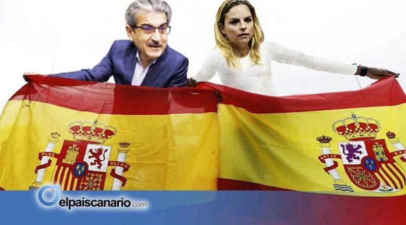 El cuatripartito formado por el PSOE, Nueva Canarias, Podemos y la ASG impone el himno de España