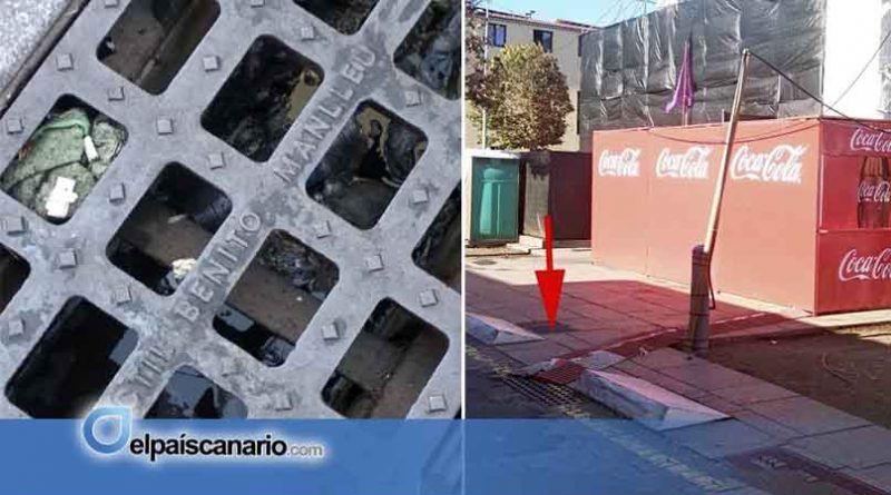 Aguas sucias en las alcantarillas de la Plaza del Cristo (otro año más)