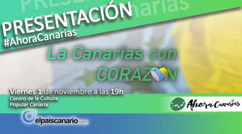 AHORA CANARIAS presenta este viernes en La Laguna sus candidaturas al Congreso y el Senado