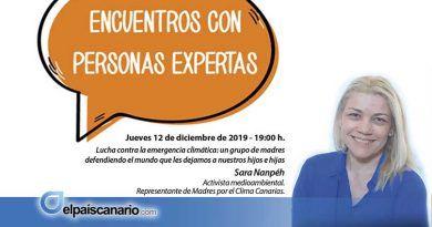 """12 DICIEMBRE. Sara Nanpéh, de Madres por el Clima – Canarias, próxima invitada de los """"IIIEncuentros con Personas Expertas"""""""