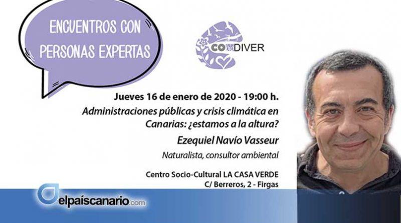 """Ezequiel Navío, próximo invitado de los """"III Encuentros con Personas Expertas"""", el jueves 16 de enero en Firgas"""