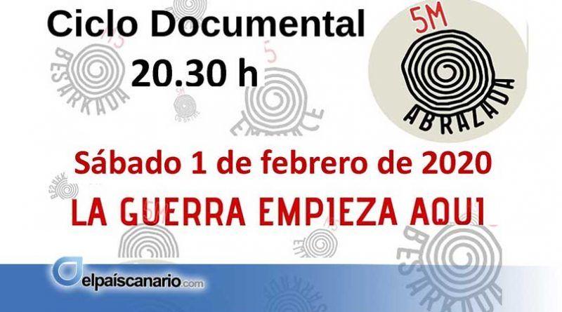 """""""La guerra empieza aquí"""", título del documental que será proyectado en Valleseco el sábado 1 de febrero"""