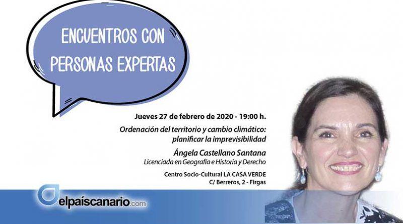 """27 FEBRERO. Ángela Castellano Santana, cierra por esta edición los """"III Encuentros con Personas Expertas"""""""