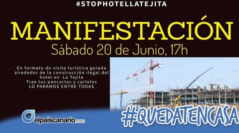 """20 JUNIO. """"Visita turística"""" reivindicativa en La Tejita"""
