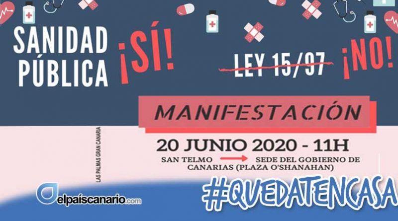 20 JUNIO. Convocada manifestación por la sanidad pública en Las Palmas de Gran Canaria