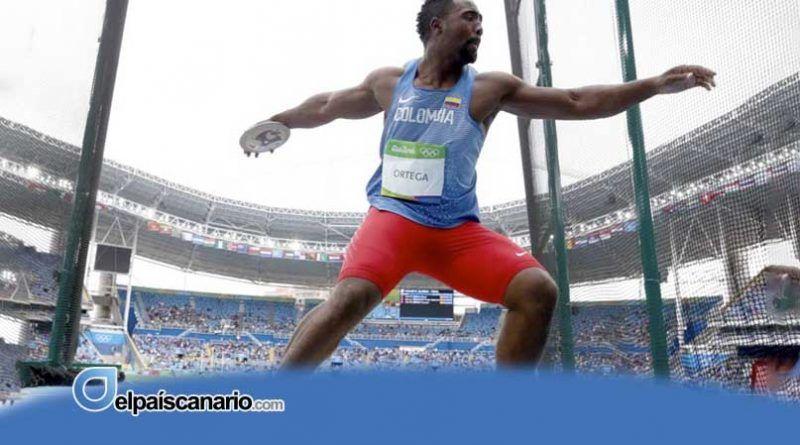 Mauricio Ortega, olímpico colombiano, al XII Mitin Santa Cruz de Tenerife