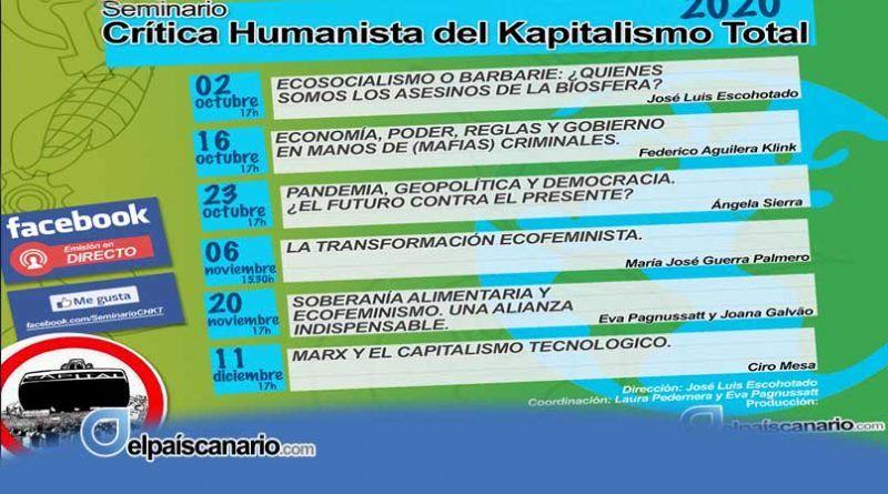 Ecosocialismo o barbarie: Seminario Crítica Humanista del Kapitalismo Total 2020