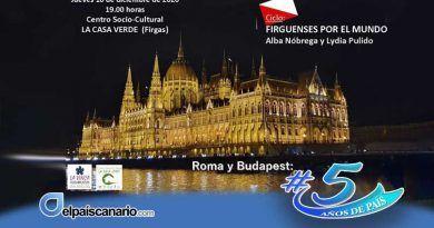 """El 10 de diciembre viajaremos a Roma y Budapest con Alba Nóbrega y Lydia Pulido, en el Ciclo """"Firguenses por el mundo"""""""