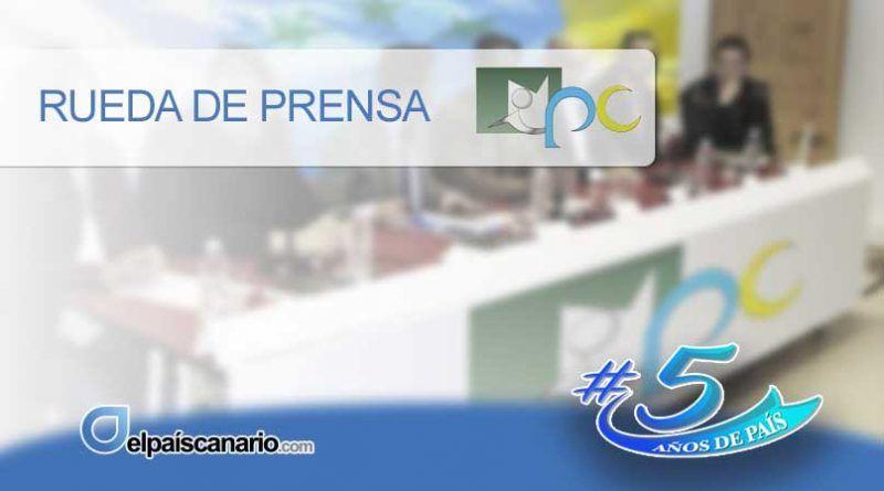 """15 DICIEMBRE. Rueda de prensa de Iniciativa Popular Canaria: """"Canarias será Territorio No Autónomo en 2021"""""""