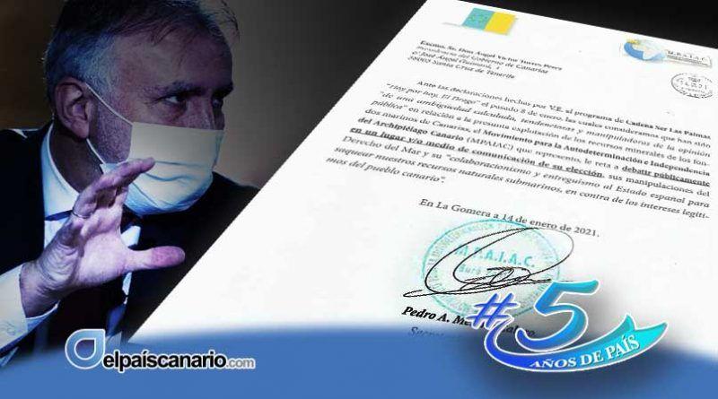 El MPAIAC reta al presidente Torres a un debate público sobre el saqueo de los fondos marinos canarios