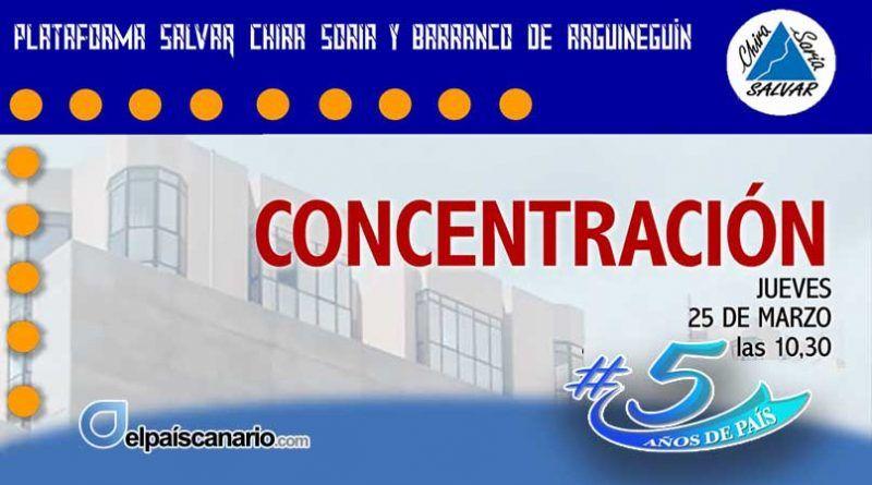 Salvar Chira-Soria convoca una concentración para el próximo jueves
