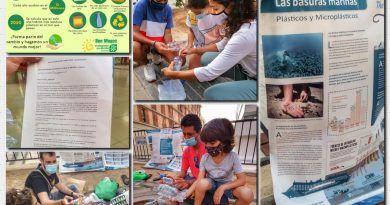 Acción de denuncia del exceso de plástico que existen en nuestra sociedad