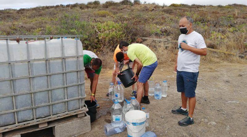 Acción Medioambiental de riego y mantenimiento de las repoblaciones de Laurisilva en la Montaña de Firgas el domingo 11 de julio