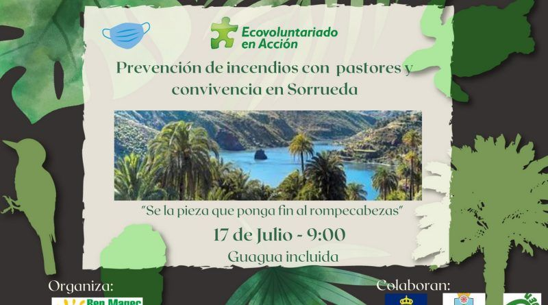 """17 JULIO. """"Prevención de incendios con pastores y convivencia en Sorrueda"""""""